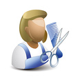 hairstylist icon vector image vector image
