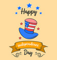happy indpendence day cute card vector image vector image