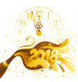 happy new year 2018 banner clock dial vector image vector image