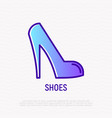 high heel shoes thin line icon vector image