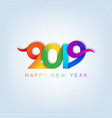 inscription happy new year 2019 on white vector image vector image