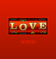Love Wins vector image vector image