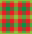 lumberjack plaid pattern in red and green vector image