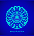 magic blue glow mandala vector image