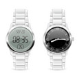 men watches analog and digital with chrome vector image