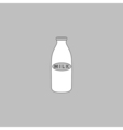 Milk bottle computer symbol vector image