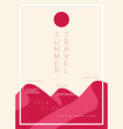 minimalistic poster with typographic design vector image vector image