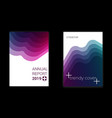 modern gradient geometric pattern cover set vector image
