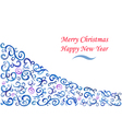 New Year card Christmas watercolor background vector image vector image