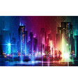 night city background in vivid colors vector image