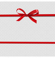 red ribbon isolated transparent background vector image vector image