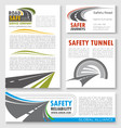 road construction traffic safety banner template vector image vector image