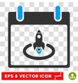 Rocket Start Calendar Page Eps Icon vector image vector image