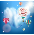 Romantic heart shaped air balloon EPS 10 vector image