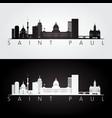 saint paul usa skyline and landmarks silhouette vector image vector image