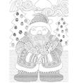 santa coloring in vector image vector image