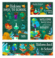 school sale banner with special offer template vector image vector image