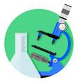 scientific research icon vector image vector image