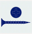 screw and screw head icon on vector image vector image