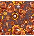seamless pattern Steampunk mechanism vector image vector image