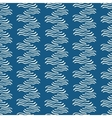 Seamless pattern with hand drawn decorative wavy vector image