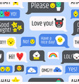 Seamless pattern with internet messages online