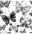Seamless white pattern with butterflies vector image vector image