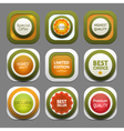 Set of modern design labels eps 10 vector image