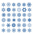 Set of snowflakes for christmas background