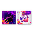 set origami geometric sale banners vector image vector image