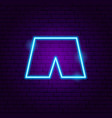 shorts neon sign vector image