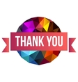 sign Thank You on abstract background vector image vector image