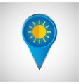 signal weather sunny pin design vector image