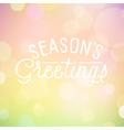 slogan bokeh season vector image vector image