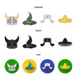 sombrero hat with ear-flaps helmet of the viking vector image vector image