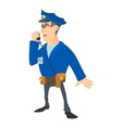 Speaking policeman icon cartoon style vector image vector image