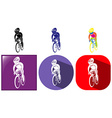 Sport icons design for cycling vector image vector image