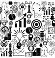 strategy seamless pattern background icon
