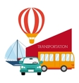Transportation design vector image vector image