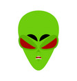ufo angry emoji green alien face aggressive vector image vector image