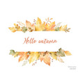 Watercolor autumn banner leaves and