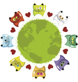 world kittens vector image vector image