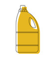 yellow watercolor silhouette of detergent bottle vector image