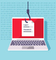 password data phishing hacker attack prevention vector image