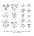 geometry symbols and elements set vector image