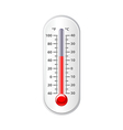 Weather thermometer isolated on white vector image