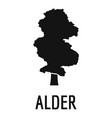 alder tree icon simple black style vector image vector image