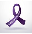 Alzheimers Ribbon vector image vector image