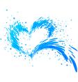 Aqua splash heart vector image vector image