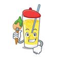 artist lemonade character cartoon style vector image